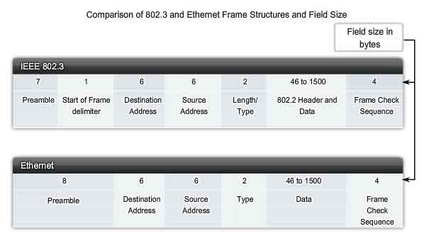 comparison between 802.3 and ethernet